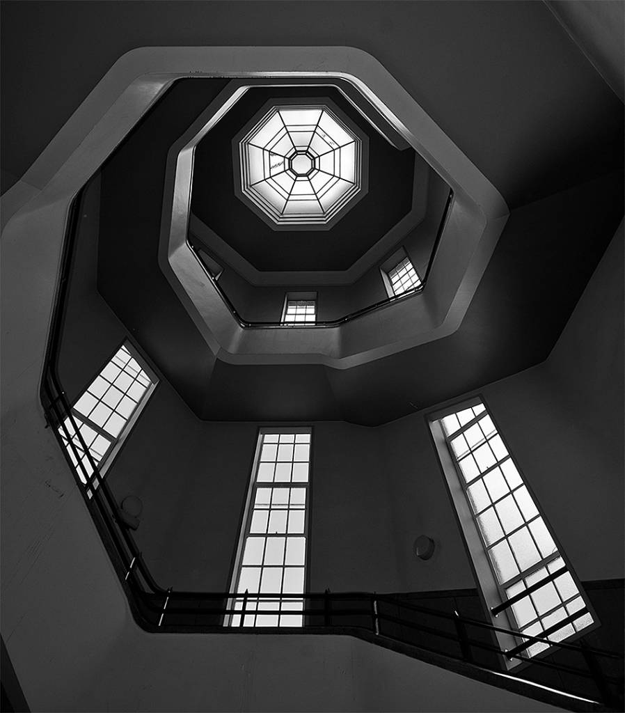 4Roy Smith_Stairway and Windows_PSA Ribbon_AFIAP_Projected Digital Images Open Monochrome